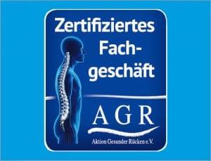 Das AGR-Gütesiegel zeigt, dass Sie bei Betten Meyer in einem zertifizierten Fachgeschäft beraten werden